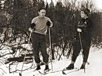 На лыжах в Долгопрудном